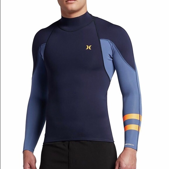 Hurley Other - Hurley Fusion 101 LS Surf Jacket - Obsidian